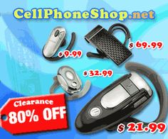 Save up to 80% on cell phones and accessories from Cell Phone Shop!