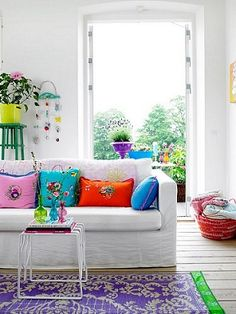 Home Decoration,Winsome Bright Living Room With White Sofa And Colorful Pillows X With Fascinating Bright Living Room Colors For Ideas Design,Bright Living Room Colors Colourful Living Room, Bright Rooms, Living Room Colors, Living Room Designs, Living Rooms, Living Area, Colorful Rooms, Family Rooms, Colorful Decor