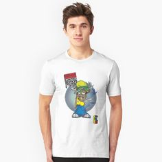 'Gumball Darwin Skate' T-Shirt by plushism My T Shirt, V Neck T Shirt, Mr Men, Tshirt Colors, Chiffon Tops, Female Models, Vodka, Classic T Shirts, Shirt Designs