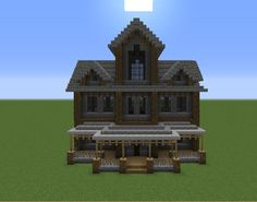 Haunted Mansion - GrabCraft - Your number one source for MineCraft buildings, blueprints, tips, ideas, floorplans!
