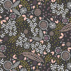 Hawthorne Threads - Odette - Petit Jardin in Onyx