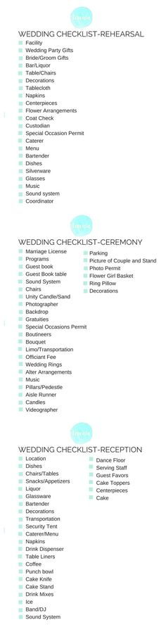 Wedding checklist Fr