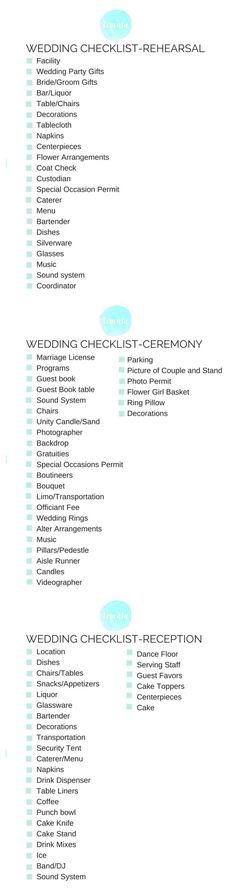 Wedding checklist Free Printable #wedding #checklist