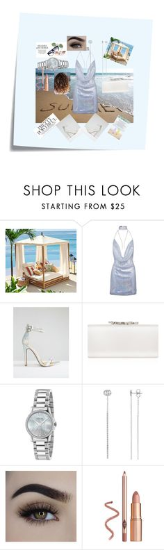 """""""live with the heat waves"""" by rubylove123 ❤ liked on Polyvore featuring Post-It, Pottery Barn, Public Desire, Jimmy Choo and Gucci"""