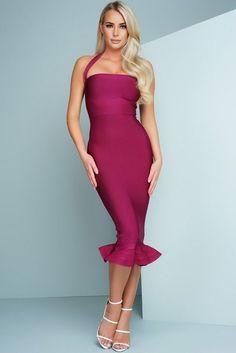 Fuchsia Bandage Dress