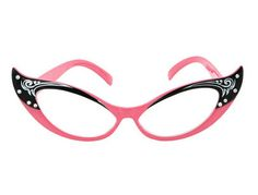 "These glasses take ""cat eye"" to a WHOLE new level. <3"
