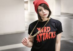 Hektik Streetwear   YARD ATTACKS #hektik #yard #streetwear #fashion #urban #streetart #graffiti #style #black #red #chain #beanie Summer 2014, Spring Summer, Street Art, Punk, Urban, Graffiti, Yard, Check, Style