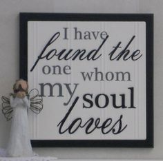 I have found the one whom my soul loves  Song of by NelsonsGifts, $15.95