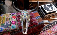 Moon to Moon: Our Exquisite Corpse, Mexican Beaded Skulls