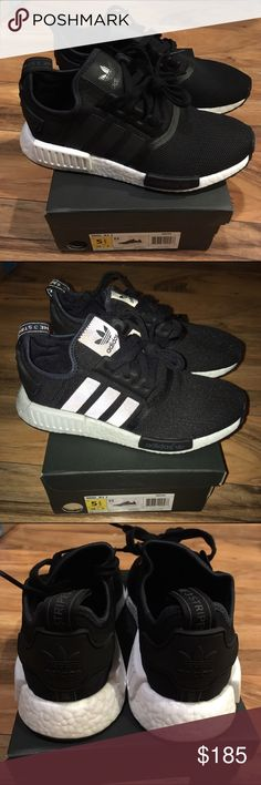Adidas NMD R1 Adidas NMD R1. Brand new with box. 2nd photo is with flash on. Also have proof of purchase. 5.5Y and 7 women. Adidas Shoes Sneakers