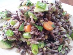 red or green?: wild rice salad with avocado, carrots & jalapeno #sensational sides