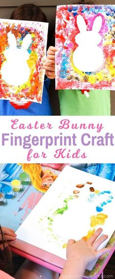 Easter Bubbles are so cute and perfect for the spring season! Let your kids make their own Easter bunny fingerprint craft with this easy DIY tutorial. #fingerprintcraft #craftsforkids #easter #holidaycraft