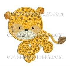 This free embroidery design from Cute Embroidery is a Cheetah.