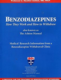 Benzodiazepines: How They Work and How to Withdrawn (Also... https://www.amazon.com/dp/9700654494/ref=cm_sw_r_pi_dp_x_iDiVybMSZ7WQ0
