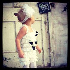 The Friendliest Little Ghost Costume Petti Romper by LovCouture, $39.00