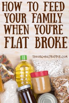 Feeding your family when you're flat broke isn't easy but it can be done. Here's how to prepare for a lean month when you're on a super-tight budget. Frugal Meals, Cheap Meals, Easy Meals, Survival Food, Survival Tips, Survival Skills, Wilderness Survival, Outdoor Survival, Emergency Preparedness