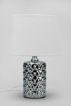 Plum & Bow Metallic Diamond Table Lamp #urbanoutfitters