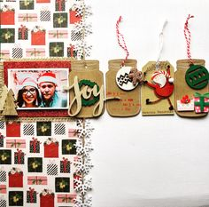 Christmas Scrapbook Layouts, Scrapbook Page Layouts, Scrapbook Cards, Winter Christmas, Christmas Cards, Scrapbook Storage, Candy Cards, December Daily, Layout Inspiration