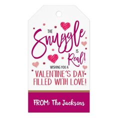 Valentine Gift Tag Valentines For Kids, Valentine Day Crafts, The Jacksons, Custom Ribbon, Personalized Gift Tags, Craft Party, Couple, Keep It Cleaner, Holiday Cards