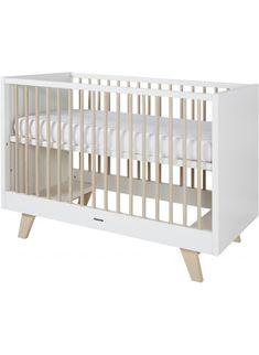 Lovely Ein stylisches Babybett Kidsmill Fynn x cm Wei Natur Passt in Kinderzimmer mit