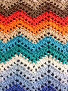 OYA's WORLD- Crochet-Knitting: Crochet: Chevron Lace Blanket