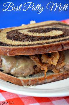 Best Patty Melt  is the perfect comfort sandwich. #patty melt #hamburger #burger #diner food #recipes