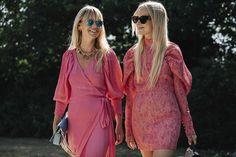 Copenhagen Fashion Week Street Style | British Vogue. Pink dresses.