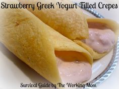 Strawberry Greek Yogurt Filled Crepes