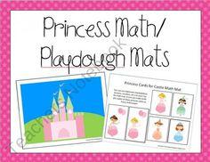 Princess Math/Playdough Mats for Preschool and Kindergarten from TeachingtheLittlePeople on TeachersNotebook.com (15 pages)