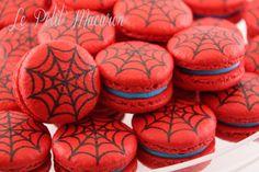Spider Man Macarons www.facebook.com/au.lepetitmacaron