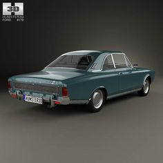 Ford Taunus (P7) 20M Coupe 1968 3d model