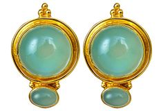 Neoclassical Earrings, Chalcedony on OneKingsLane.com - So absolutely beautiful!