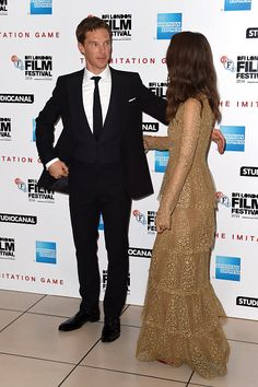 Benedict Cumberbatch and Keira Knightley  (Photo by Gareth Cattermole/Getty Images for BFI)