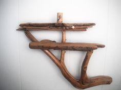 hand made vermonth mountain driftwood shelf