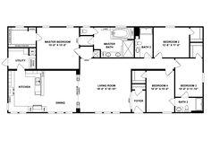 Mobile & Modular Homes For Sale Metal House Plans, Barn House Plans, Dream House Plans, House Floor Plans, Clayton Modular Homes, Modular Homes For Sale, House Wrap Around Porch, Mobile Home Floor Plans, Barndominium Floor Plans