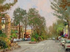 The play of light on water, the glorious glow of sunlight reflected and the radiant sense of movement and life, are all part of the unpredictable ever-changing world of plein air painting. Painting directly from nature has produced some of Thomas Kinkade's finest work.