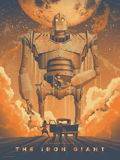 I cant believe this thing is only 3 colors... wow. DKNG Studios » The Iron Giant Mondo Art Print