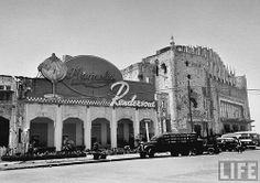 Metropolitan Theater, & newly opened Magnolia Rendezvous, Manila, Philippines, May 1948