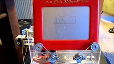Etch a Sketch clock powered by Arduino