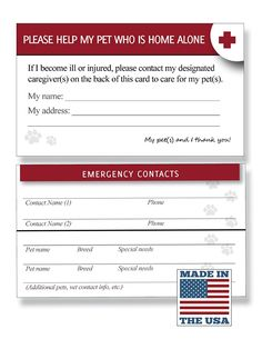 Kit Pet ID Tag and Emergency Wallet Card