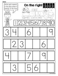 Numbers 1-20 Homework Pages ~ Number writing and counting practice ...