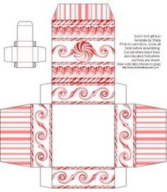Make your own miniature gift box.  Printable box pattern