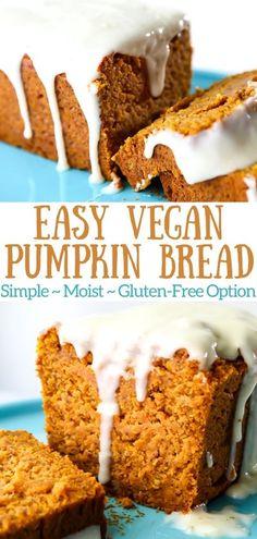 Moist Pumpkin Bread, Pumpkin Chocolate Chip Bread, Chocolate Chips, Gluten Free Vegan Pumpkin Bread, Healthy Pumpkin, Eggless Desserts, Vegan Dessert Recipes, Baking Recipes, Muffin Recipes