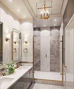 Bathroom decor, Bathroom decoration, Bathroom DIY and Crafts, Bathroom home design Bathroom Renos, Bathroom Renovations, Brass Bathroom, Bathroom Ideas, Marble Bathrooms, Remodel Bathroom, Bathroom Cabinets, Bathroom Organization, Tile On Bathroom Wall