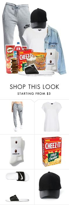 """""""Late Night Binge😛🌙"""" by melaninprincess-16 ❤ liked on Polyvore featuring NIKE, Topshop, Levi's, Amiee Lynn, men's fashion and menswear"""