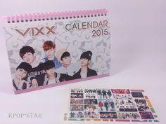 VIXX 2015 2016 Desk Calendar (with Sticker ) New Year K-POP Korean K Pop Korea