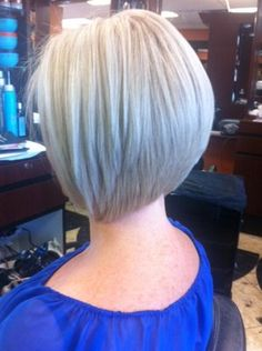 Graduated A-line Bob haircut