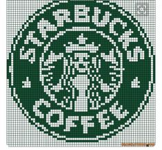 Starbucks logo perler bead pattern & Must remember this for someone Diy Perler Beads, Perler Bead Art, Cross Stitch Charts, Cross Stitch Patterns, Cross Stitching, Cross Stitch Embroidery, Starbucks Logo, Starbucks Coffee, Mochila Crochet