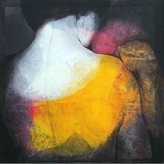 Etienne Gros | Visage à l'épaule (150x150cm)