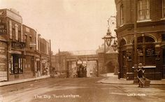 The Dip, Twickenham. Note the pub that is now Tesco, and the row of shops opposite that is no more